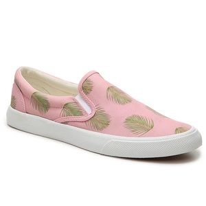 BUCKETFEET | NWOT pink green palm leaf sneaker